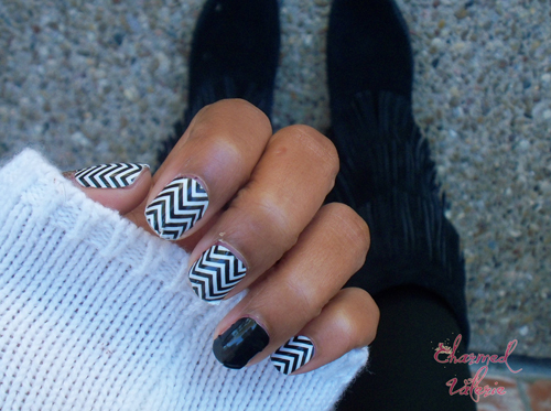 """ring finger nail trend"", jamberry nails"