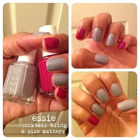 essie cocktail bling and size matters