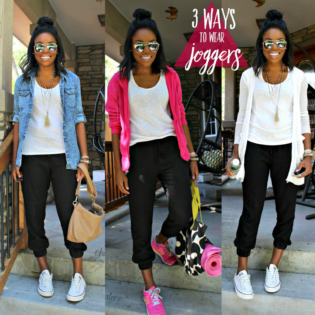 b64d5c89fd 3 Casual Ways to Wear Joggers - Charmed Valerie