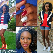 Fourth of July 2014 Outfit + Makeup + Nail Ideas