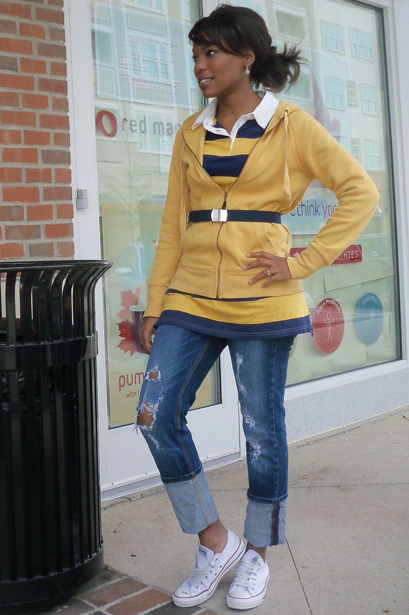 Preppy Casual Converse Sneaker Outfit