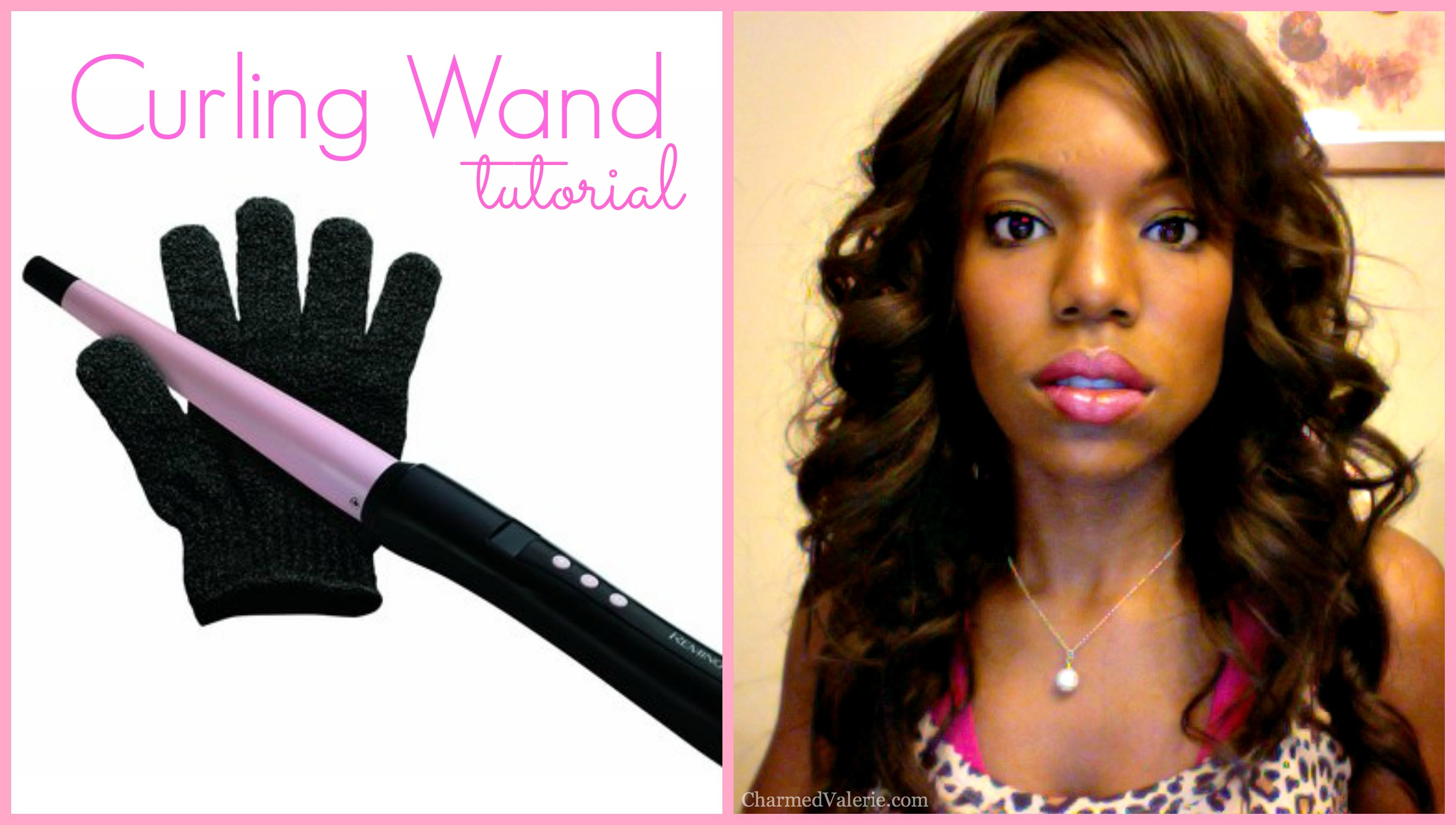 Remington curling wand video cover