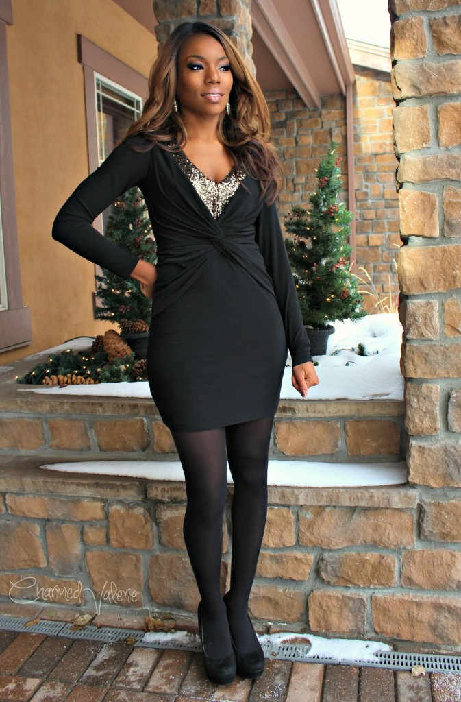 Rent The Runway dress for a holiday party or special date night.
