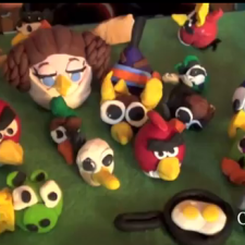 VIDEO: Angry Birds Sculpey Clay Figures