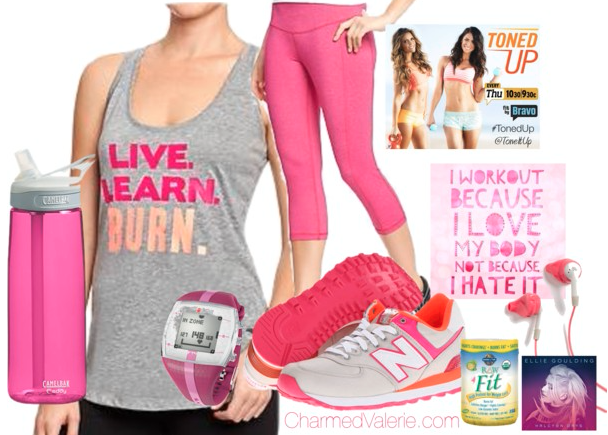 Workout Outfit: Live. Learn. Burn.