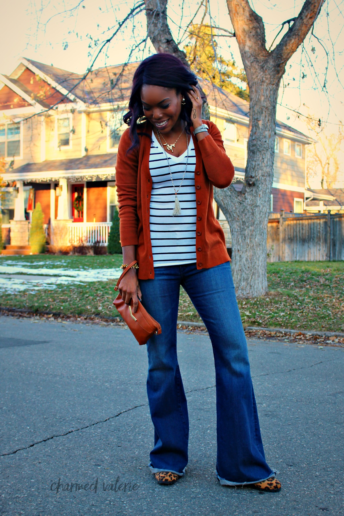 Boyfriend Cardigan Sweater Outfit