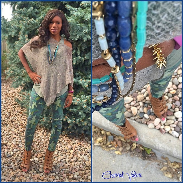 camo skinnies outfit