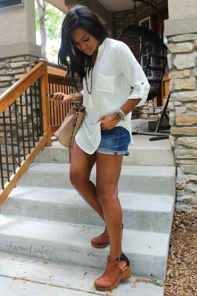 Fall Transition + Free People Clogs Outfit