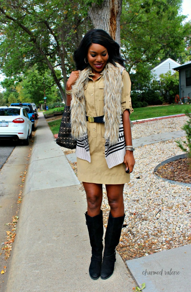 How to wear a fur vest: 3 ways (fur vest with a dress!)