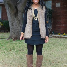 What I Wore: Fur Vest Outfit #ootd
