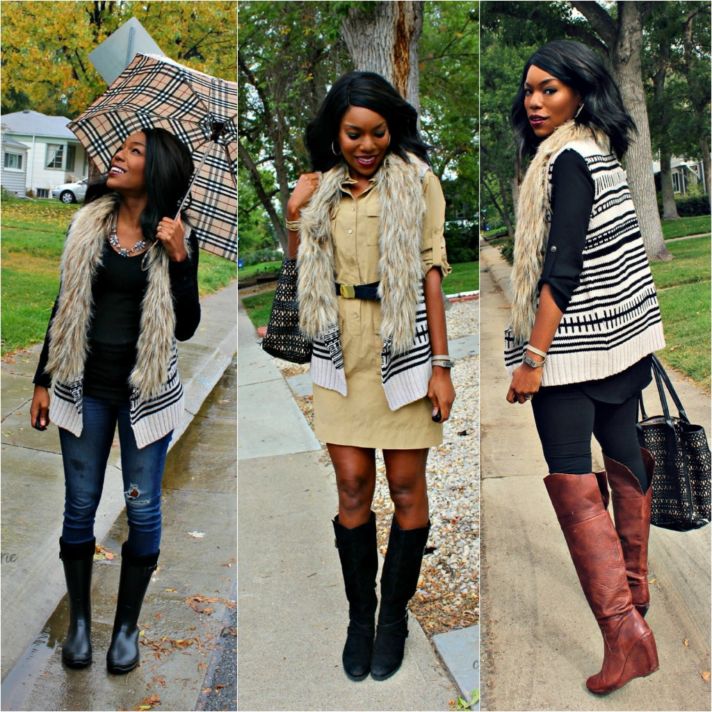 How to wear fur vests: 3 ways