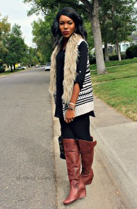 Fur Sweater Vest Outfit