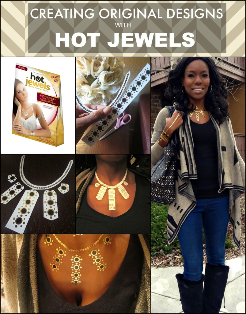 Creating original designs with Hot Jewels metallic temporary tattoos