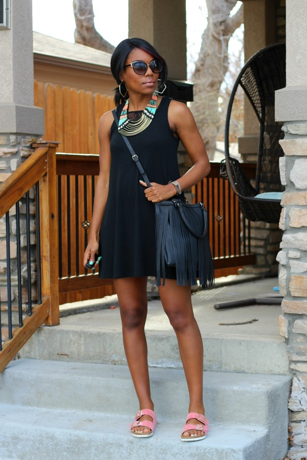 Little Black Tank Dress Outfit