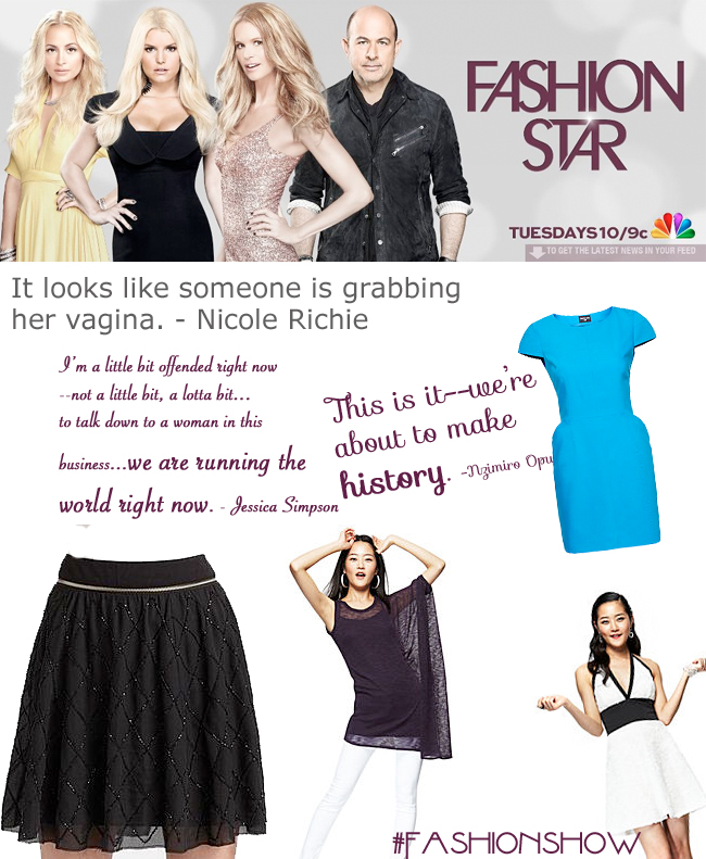 An Honest Critique Of Fashion Star On Nbc Cc Nbcfashionstar Fashionstar Jeanniemai Charmed Valerie