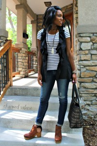 On Vests, Stripes & Looking Skinny in Skinny Jeans
