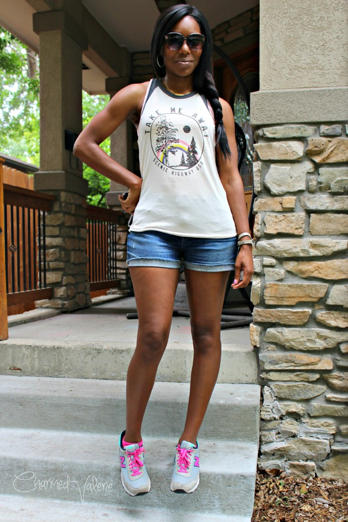 Summer Graphic Tank Outfit