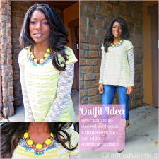 What I Wore: Neon + Lace Fall Transition Outfit