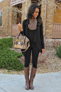 What I Wore: Chevron Infinity Scarf