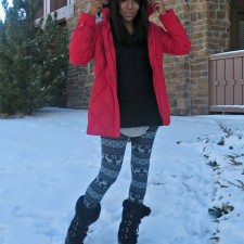 What I Wore: Reindeer Printed Leggings + Get Ready With Me VIDEO
